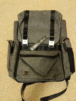 NWT Ju-Ju-Be XY Collection Hatch Backpack Diaper Bag Gray Ma