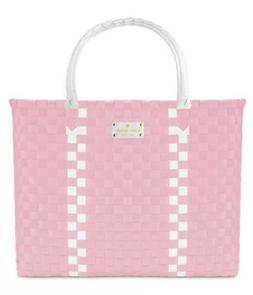 NWT KATE SPADE NY pink/white large women Tote Bag shopper be