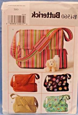 BUTTERICK PATTERN 4560  DIAPER  BAGS  TO MAKE   UNCUT