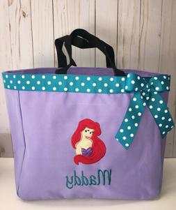 Personalized Baby Diaper Bag Tote Monogrammed Ariel Little M