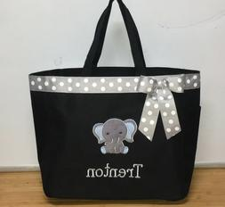 Personalized Baby Diaper Bag Tote Monogrammed Boy Elephant