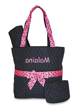 Quilted 3 piece Personalized Monogrammed Embroidered Baby di