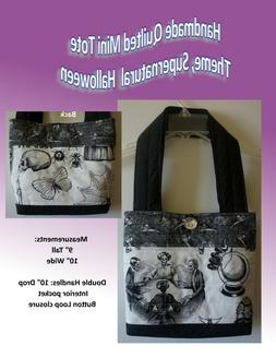 Handmade quilted MINI tote bag, or purse theme:Supernatural