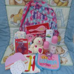 Reborn baby doll complete Diaper bag Backpack with accessori