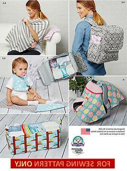 SEWING PATTERN! MAKE BABY DIAPER BAG/BACKPACK~CADDY~CARRIER