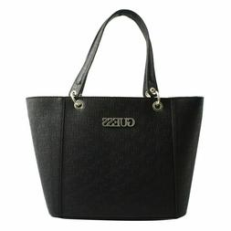 Shopping Bag Big Shoulder Guess Woman Eco-Leather Black with
