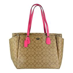 Coach Signature Multifunction Tote and Baby Diaper Bag in Kh