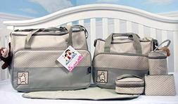 SoHo Sage Baby Diaper Bag W/ Changing Pad 6 Pieces Family Se