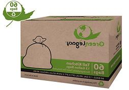 Green Legacy Tall Kitchen Trash Bags - 60 Bags/Box ON SALE!