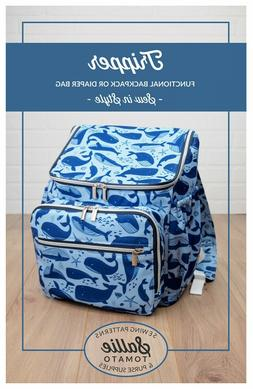 TRIPPER BACKPACK OR DIAPER BAG SEWING PATTERN, from Sallie T