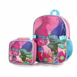 Trolls Econo 15 Inch Backpack with Lunch Bag Kit For Kid Gir