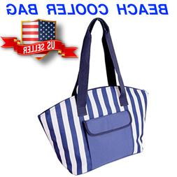 Zipper Top Insulated Cooler Food Bag for Beach Camping Picni